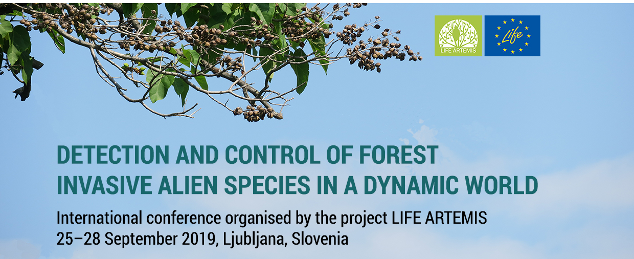 """A massive representation of SAMFIX at the LIFE ARTEMIS project's conference """"Detection and control of forest invasive alien species in a dynamic world"""""""