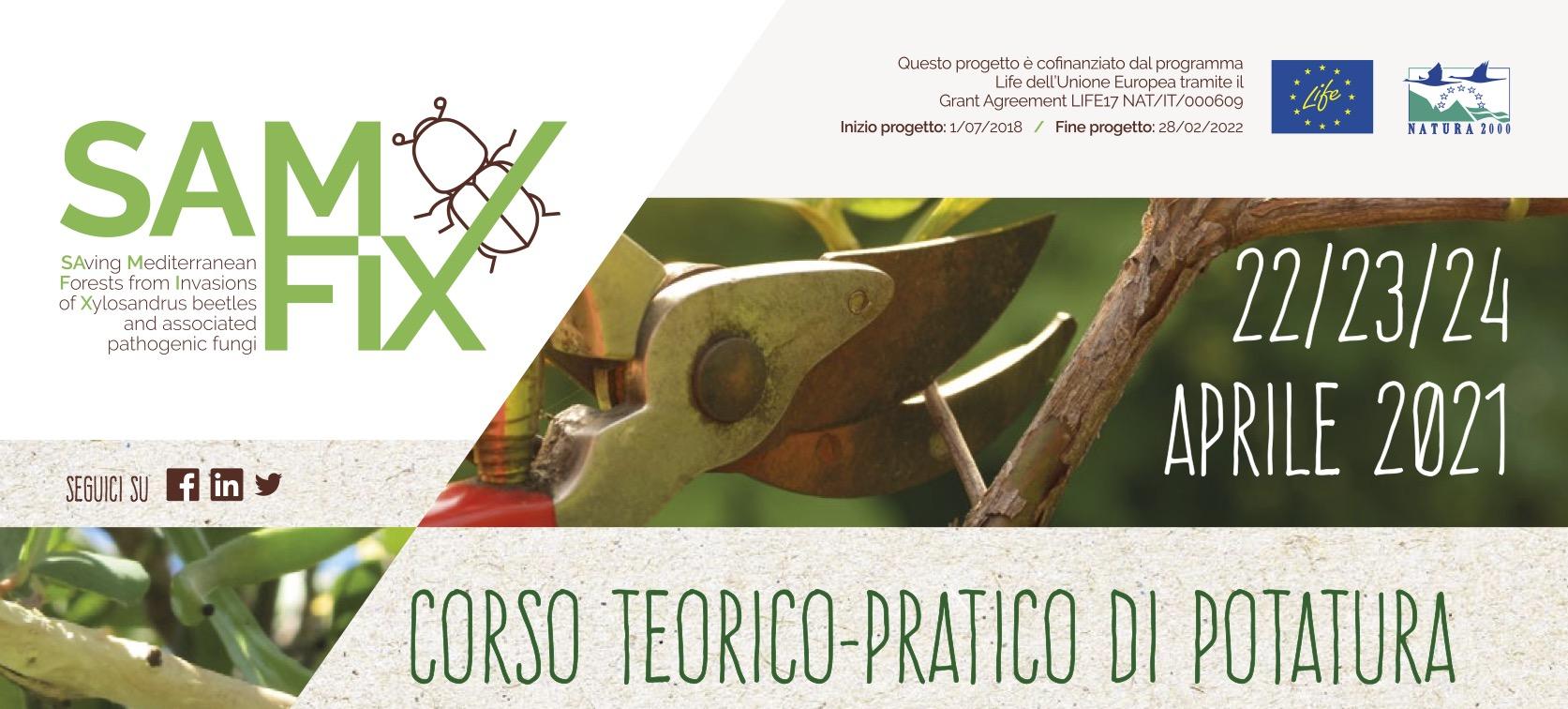 CORSO TEORICO-PRATICO DI POTATURA CON GLI ESPERTI DEL PARCO DEL CIRCEO