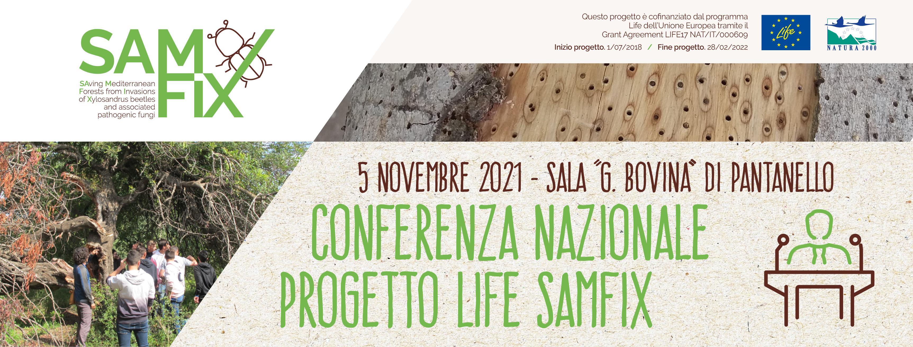Conferenza Nazionale del progetto LIFE SAMFIX 5 novembre 2021